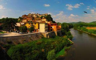Фото бесплатно дом, здание, река