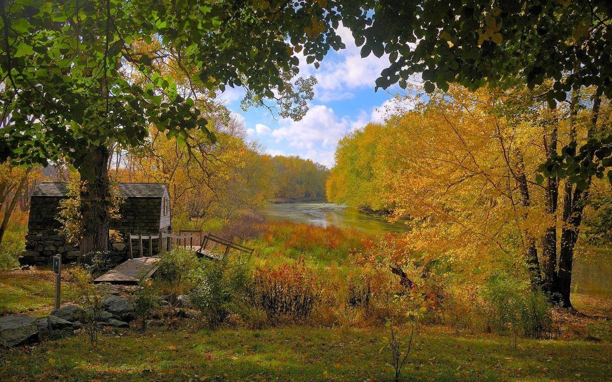 Фото бесплатно домик, мостик, камни - на рабочий стол