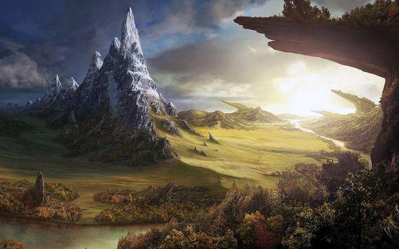 Заставки фэнтези, пейзаж, горы