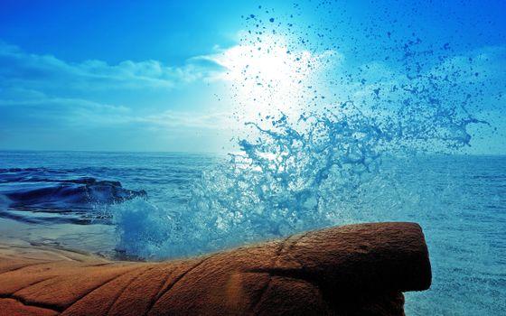 Фото бесплатно море, солнце, прибой