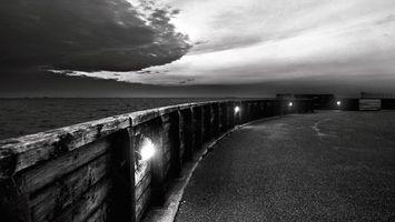 Фото бесплатно волны, забор, природа
