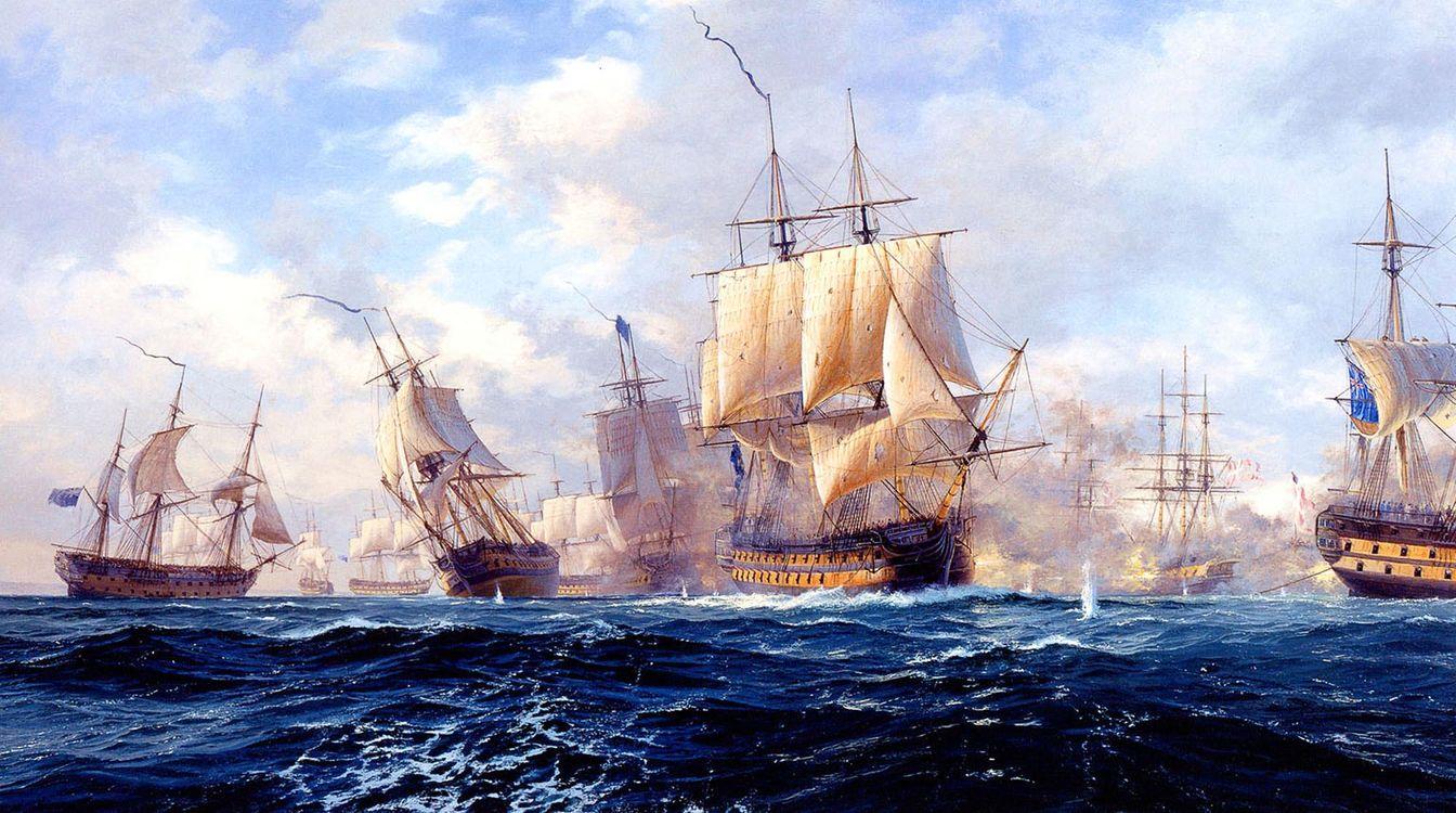 Обои морской бой, копенгаген, корабли картинки на телефон