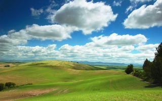 Фото бесплатно пейзажи, трава, холмы