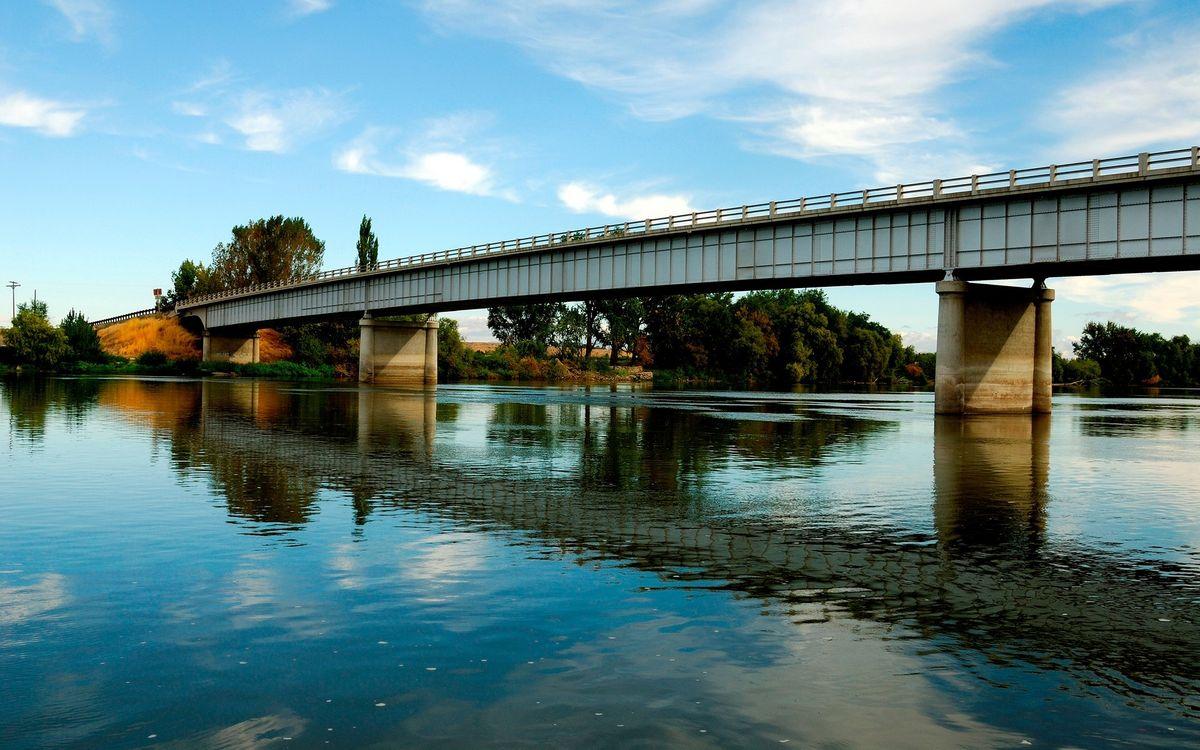 Фото бесплатно облака, мост, вода - на рабочий стол