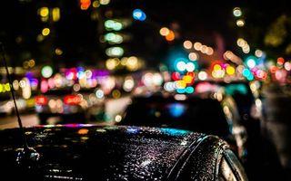 Бесплатные фото ночь,улица,машины,фонари,огни,свет,город