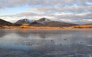 Заставки озеро, мороз, лед