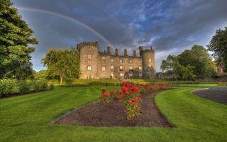 Фото бесплатно замок, окна, башни