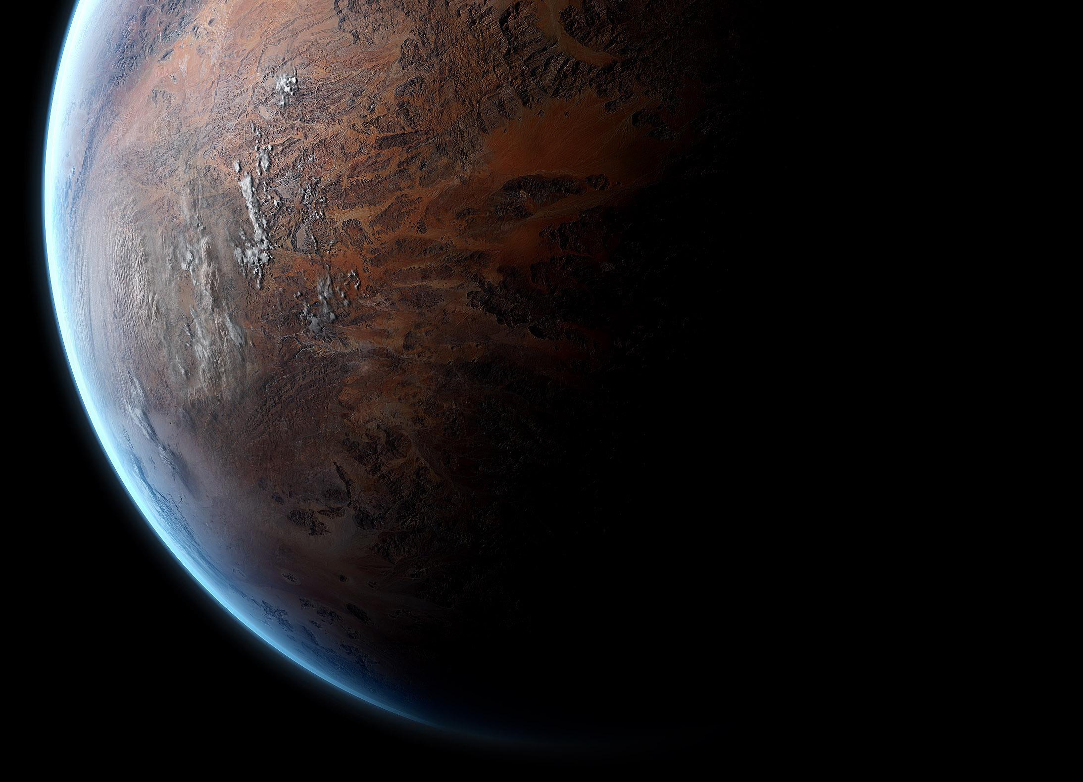Обои планета, тень, рельеф, свет