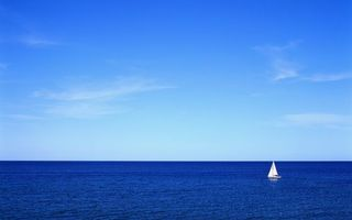 Фото бесплатно парусник, океан, небо
