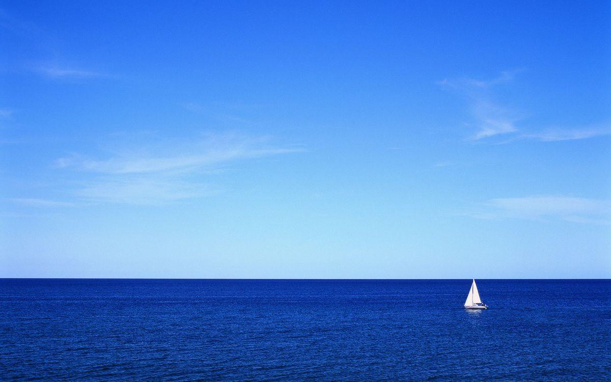Фото бесплатно парусник, океан, небо - на рабочий стол