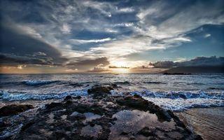 Фото бесплатно берег, камни, солнце