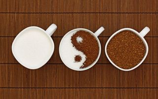 Бесплатные фото чашки,кофе,сахар,знак,инь янь,разное