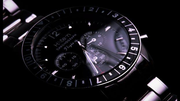 Фото бесплатно часы, мужские, циферблат, стрелки, время, секунды, цифры, числа, ремешок, браслет? хронограф, flying, разное