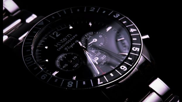 Photo free bracelet chronograph, numbers, strap