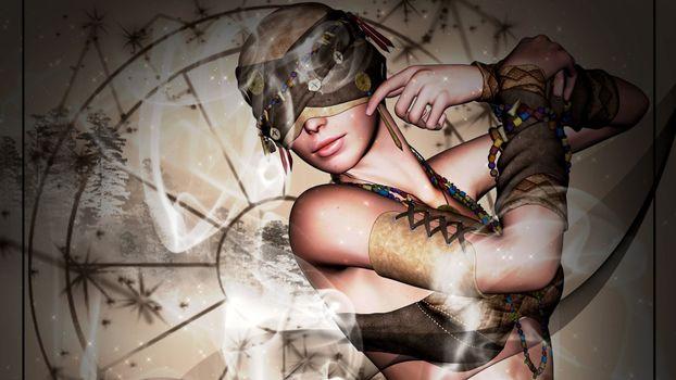 Photo free girl, eyes, bandage