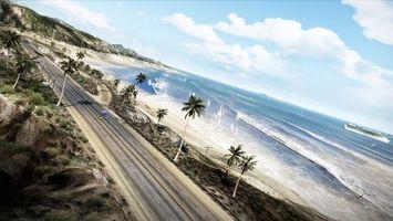 Фото бесплатно дорога, асфальт, пляж