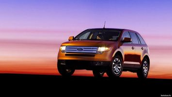Фото бесплатно ford, оранжевый, вечер