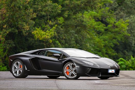 Photo free lamborghini aventador, black, acid red