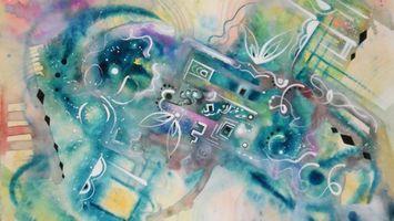 Бесплатные фото линии,круги,краски,цвета,полосы,свет,абстракции