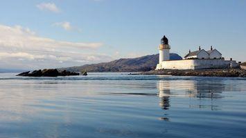 Бесплатные фото море,камни,маяк,здание,горы,небо,пейзажи