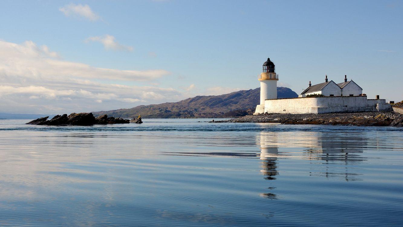 Фото бесплатно море, камни, маяк, здание, горы, небо, пейзажи, пейзажи