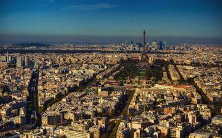 Бесплатные фото париж,франция,эйфелева башня,дома,вид,крыши,высота