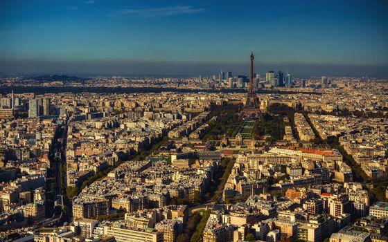 Бесплатные фото париж,франция,эйфелева башня,дома,вид,крыши,высота,здания,город