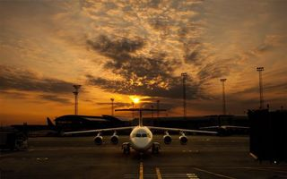 Photo free airplane, passenger, airfield