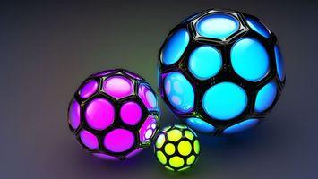 Фото бесплатно шары, светятся, цветные