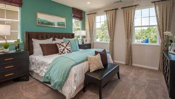 Заставки спальня, кровать, окно