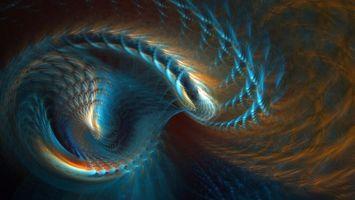 Обои спираль, необычно, красиво, ярко, быстро, свет, абстракции