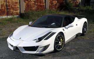 Фото бесплатно спорткар, белый, крыша, черная, диски, суппорт, желтый, машины