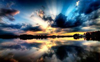 Фото бесплатно водо, небо, облака