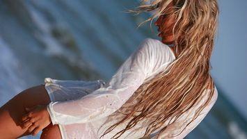 Фото бесплатно волосы, светлые, рубашка