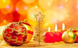 Бесплатные фото новый год, праздник, шарики, рождество, свечи