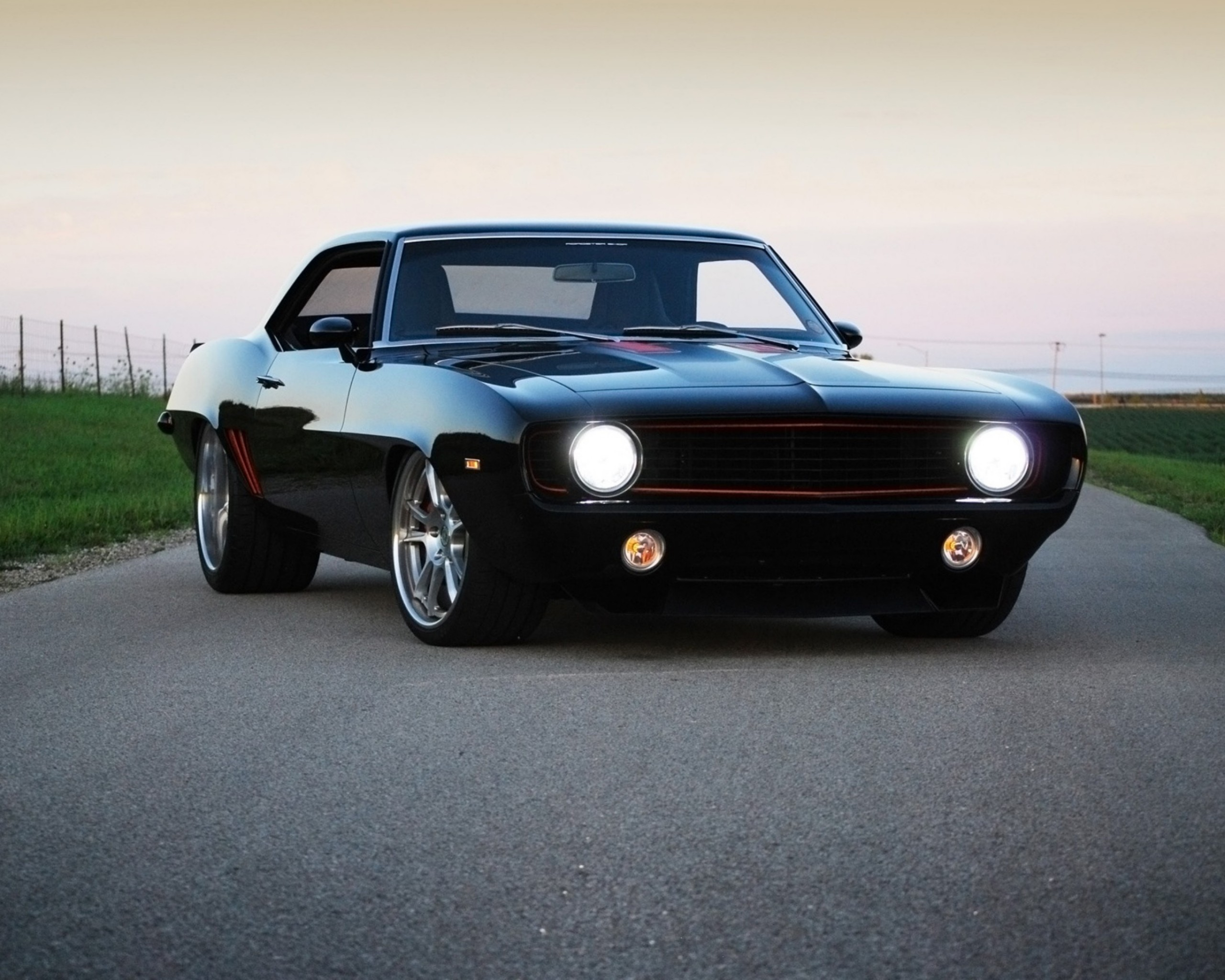 Обои chevrolet, camaro, roadster, 1969