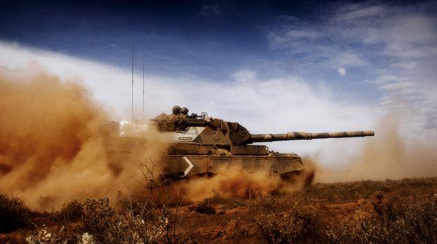 Заставки танк, песок, пустыня
