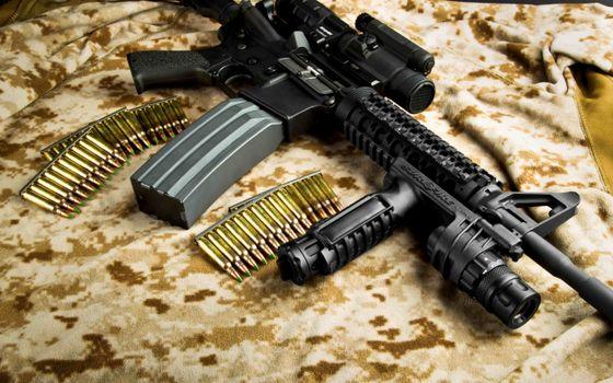Фото бесплатно автомат, патроны, пули