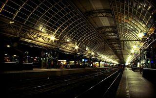 Бесплатные фото станция, электричка, рельсы, тоннель, разное