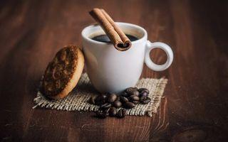 Фото бесплатно чашка, корица, кофе