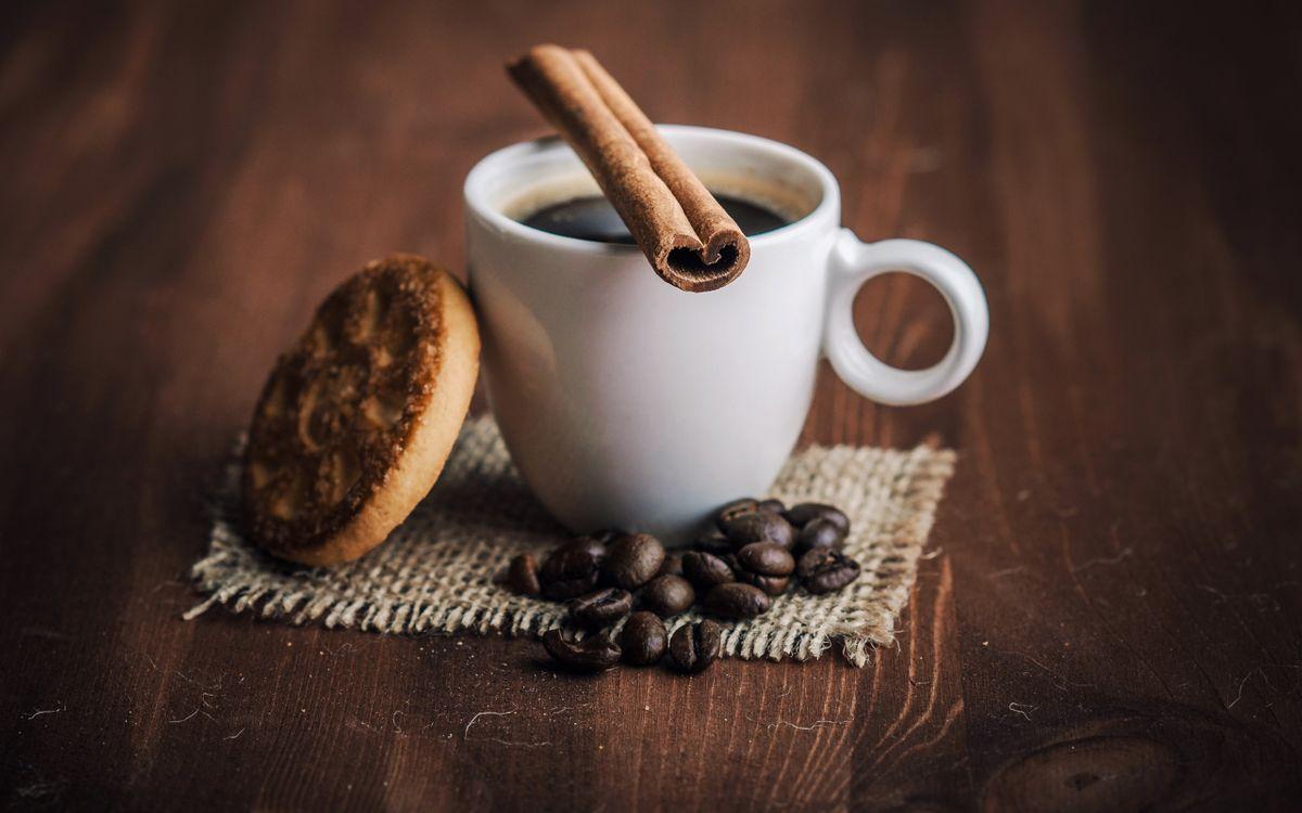 Фото бесплатно чашка, корица, кофе - на рабочий стол