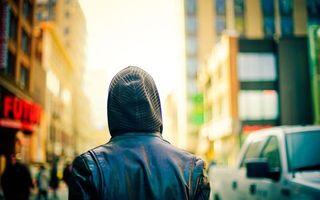Заставки человек, капюшон, улица