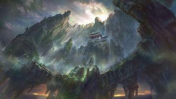 Бесплатные фото дом,здание,камни,скала,гора,небо,тучи