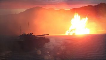 Заставки сахара,война,два танка,взрыв,огонь