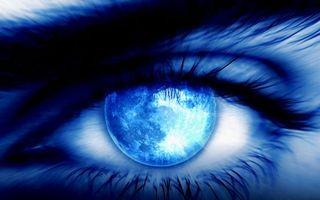 Заставки глаз, синий, зрачок