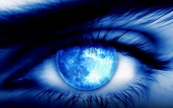 Фото бесплатно глаз, синий, зрачок