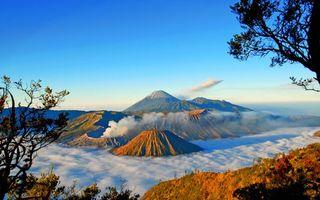 Фото бесплатно горы, вулканы, вершины