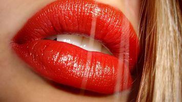 Фото бесплатно губы, помада, блеск