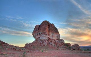 Фото бесплатно камень, небо, облака