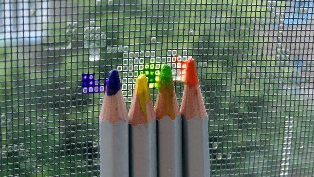 Photo free pencils, color, slate